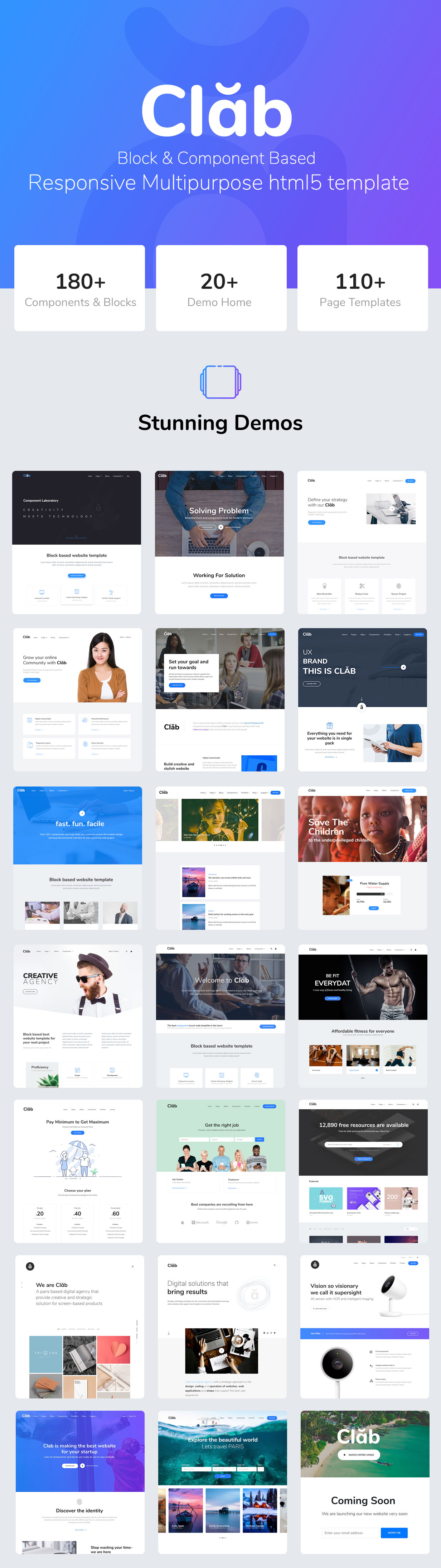 Clab - Multi-Purpose HTML5 Template - 1