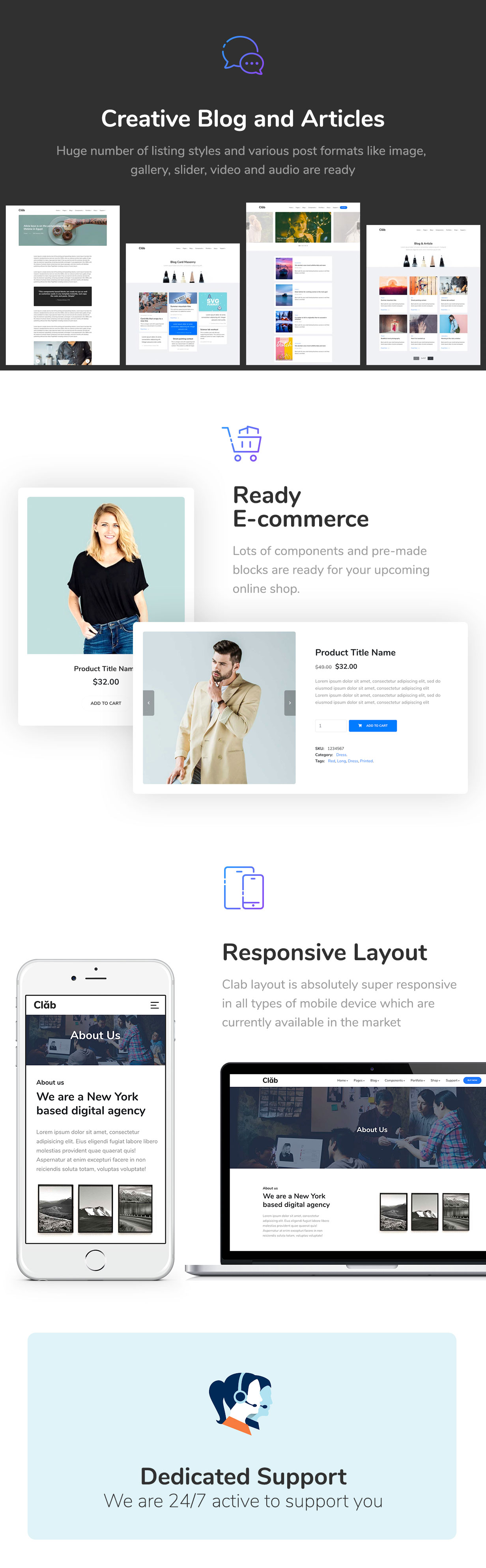 Clab - Multi-Purpose HTML5 Template - 4
